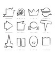 set of twelve zodiac signs in the primitive style vector image
