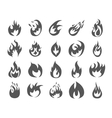 Set of various fire elements vector image