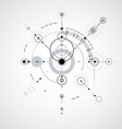 Technical plan monochrome abstract engineering vector image