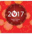 Happy Chinese new year 2017 card lanterns Gold vector image vector image