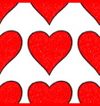 seamless pattern red heart vector image