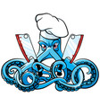 octopus the mad cook vector image