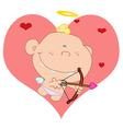 Baby Cupid Shooting Arrows vector image