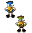 Halloween Monster Hands On Hips vector image vector image