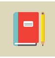 Notebook And Pencil Colored vector image vector image