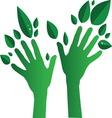 Green Hands01 resize vector image vector image