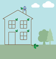 green ecology house vector image