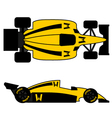Yellow racing car vector image