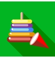 Childrens colorful pyramid icon flat style vector image
