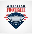 american football logo template design vector image