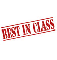 best in class stamp vector image