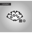 black and white style Money dice chip vector image