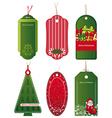 Bright Christmas tags vector image