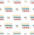 hand drawn seamless abstract pattern wavy vector image
