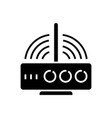 router wireless icon black vector image