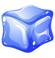 Single blue ice cube vector image