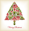 Floral Christmas Design vector image