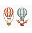 Transport air balloon with balance and lights vector image vector image