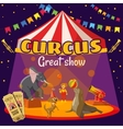 Circus great performance concept cartoon style vector image