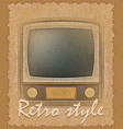 retro style poster old tv vector image