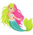 mermaid vector image vector image