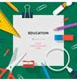 Education and science concept - template with vector image vector image