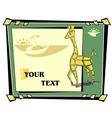 abstract mosaic giraffe vector image
