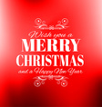 2016 New Year and Happy Christmas background for vector image vector image