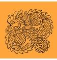 Chinese dragon character vector image