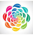 colorful leaf icon design vector image