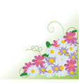 Floral corner background vector image