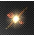 Glowing star light flash shining sun vector image