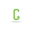 Green letter G logo eco concept icon ecology vector image