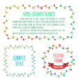 Hand drawn garland frames vector image