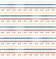 hand drawn seamless abstract pattern horizontal vector image