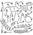 hand written marker pen arrows of vector image