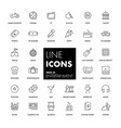 line icons set entertainment vector image