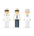 profession sailor mans suits vector image