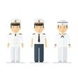 profession sailor mans suits vector image