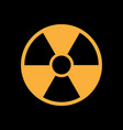 radiation symbol in flat style vector image