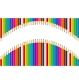 Rainbow set of colored pencils vector image