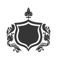 shield ornament legacy vector image