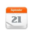 Tear-off calendar icon vector image