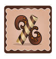 letter x candies chocolate vector image