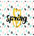 spring fower handwritten card vector image
