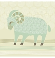Decorative Ram vector image vector image