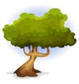 cartoon funny spring tree vector image