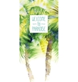 Template with watercolor palms vector image vector image