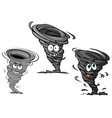 Cartoon hurricane tornado and typhoon characters vector image vector image