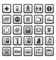 gas station symbols vector image vector image